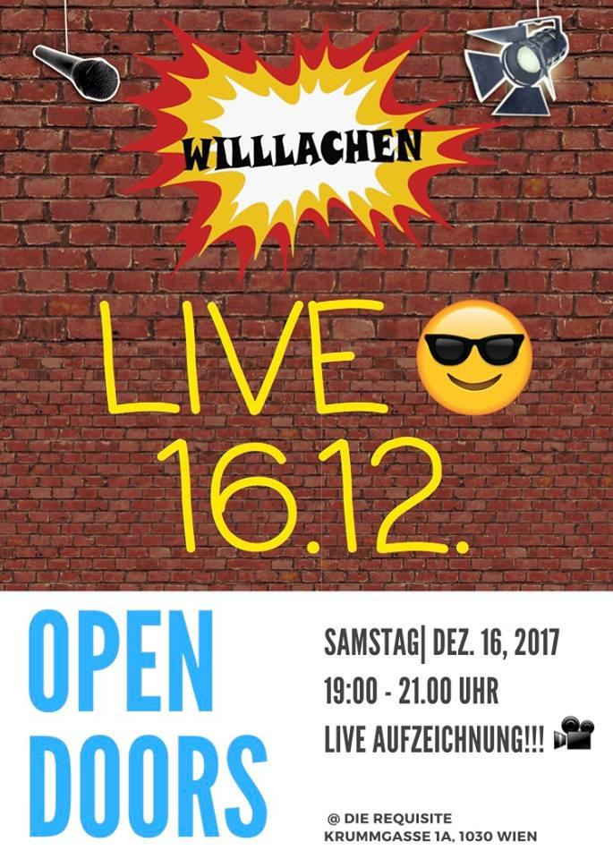 Flyer-Willlachen-Aufzeichnung-Dezember-2017-Front